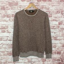 RRL Double Ralph Lauren Men's Fleece Crewneck Sweater Heather Brown Size Medium