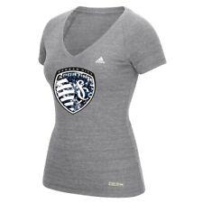 Sporting Kansas City MLS Adidas Women's Flower Explosion Grey T-Shirt