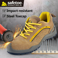 safetoe Safety Work Shoes Steel Toecap Abrasion Resistant Leather US Size 10 SRC