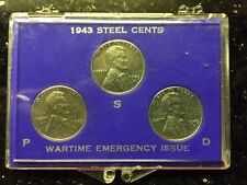1943 Wartime Steel Cents Lincoln Pennies - PDS Coin S