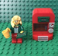 Lego MOC Modular City Vending Coffee Drinks Machine W/ Blonde Female mini Figure