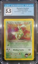 Rocket's Scyther 13/132 Gym Heroes Unlimited Holo CGC 5.5 Excellent+ PokemonTCG