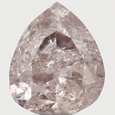Natural Loose Diamond Pear I1 Clarity Brown Pink Color 3.70 MM 0.15 Ct N7024