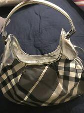 Burberry Beat Check Brooklyn Hobo Bag