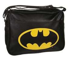 Batman Logo Negro Dc Comics Retro hombro Messenger deporte gimnasio Mochila Escolar BNWT