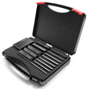Portable 15PCS Precision Aluminum Height Gauges Set Setup Bars + Case For Router