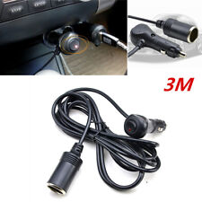 Car Accessory Cigarette Lighter Socket Extension Cord Cable Red LED light 12V 3M