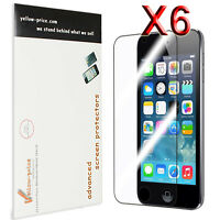 6xClear Reusable LCD Screen Protector Cover Guard 4 itouch iPod Touch 5 5th Gen.