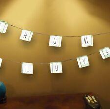 210 cm Cinéma personnalisé Scrabble Hanging lettres String lumières corde DEL NEUF