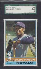 1976 Topps baseball card #415 Vada Pinson, Kansas City Royals SGC 96 Mint 9