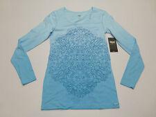 Everlast Womens Size Medium Blue Dip Dye LS Tee Shirt New