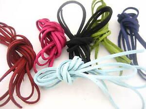 4m* Leather Cord soft Suede Lace velvet Thread DIY Bracelet Necklace findings