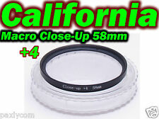 58 mm Macro Close Up Glass +4 Lens Filter Canon Nikon Camera DSLR SLR 58mm Sony