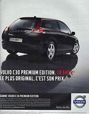 PUBLICITE ADVERTISING  2009   VOLVO      la nouvelle gamme C30  PREMIUM EDITION