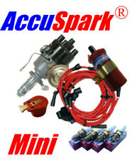 Mini Electronic Distributor pack ,red coil, leads ,AC9C Spark plugs , red rotor