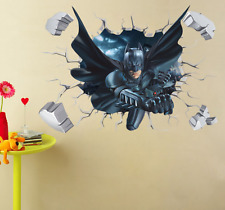 3D Batman Broken Wall Sticker For Kids Boys Room Home Decor Wall Art Poster Gift