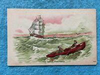 The hardy fishermen Vintage Early 1900's Postcard