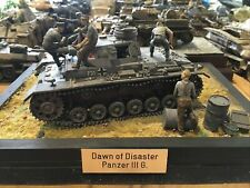 Diorama WWII Wehrmacht Panzer III G 1:35 mit 5 Figuren