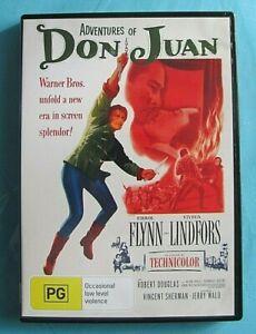 ADVENTURES OF DON JUAN DVD Errol Flynn Region 4 see below