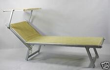 Sonnenliege / Liegestuhl beige - Aluminium mit Sonnendach - Obere Klasse