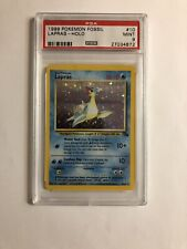 1999 Pokemon Unlimited Fossil Lapras  Holo 10/62 PSA 9 MINT Superb