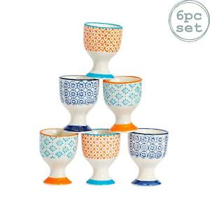 Ceramic Egg Cup Cups Kitchen Breakfast Porcelain Dining - Nicola Spring - x6