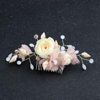 Bohemia Women Wedding Hair Accessory Shell Cloth Flower Hair Clips Hair Comb