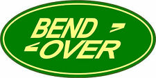 Bend Over Spoof Fun 4 x 4 Style Exterior Vinyl Stickers Decals x 2