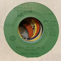CROSSOVER FUNK Brad Mercer SOUL's WHERE IT'S AT dj THE RECORD CO. VG+