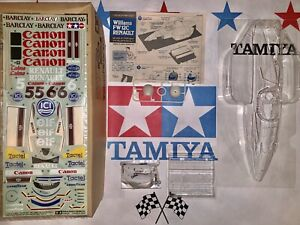 VINTAGE TAMIYA WILLIAMS FW-12C RENAULT 1/10  BODY PARTS SET 50378 F1 F101 F103