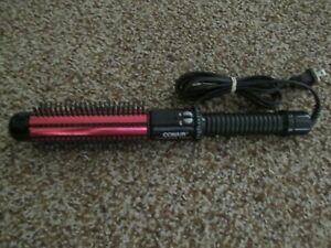 "CONAIR INSTANT HEAT RED 1 1/4"" BARREL CURLING BRUSH 15 ADJ HEAT TURBO DUAL VOLTS"