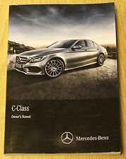 MERCEDES C-CLASS 2014-2018 W205 SALOON OWNERS MANUAL HANDBOOK BOOK
