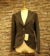 Magee Ladies Grey Donegal Tweed Jacket Wide Lapel Side Vents Size 20 New