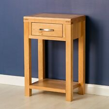 Abbey Light Oak Telephone Table Solid Wood Small Hallway Narrow Side Console