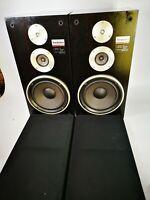 Pair of Technics Speakers, 3 Way speaker system - SB-3130. Black 80W.