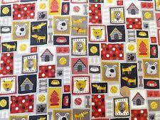 Patch montage Dogs  fabric fq 50x56 cm 100% Cotton Makower MK1527