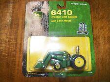 Ertl 1/64 die cast metal John Deere 6410 tractor with loader 60th anniversary