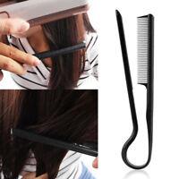 HOT DIY Styling Straightening V Comb Clip-Type Hairdressing Hair Straightener SL
