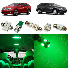 10x Green LED lights interior package kit for 2009-2013 Toyota Venza TV1G