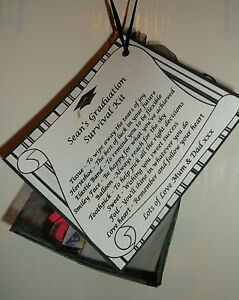 Survival Kit Gift Bag & Card Survival Kit Personalised Birthday University Etc