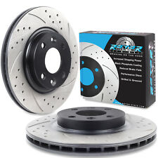 FRONT DRILLED GROOVED 258mm BRAKE DISCS FOR DACIA LOGAN SANDERO 1.5 DCI 1.2 MCV
