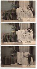 Théme Carte coquine osé femme au lit  DOUX REVE et lapin série de 6 cartes