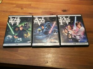 STAR WARS Trilogy A New Hope Empire Strikes Back Return of Jedi DVD WIDESCREEN.
