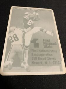 1979 New York Giants Football Pocket Schedule First National State Version