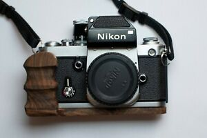 handmade wooden grip for Nikon F2