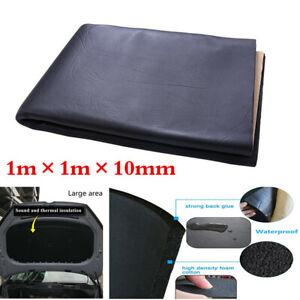 10mm Foam Car Hood Sound Deadener Heat Insulation Deadening Material Mat Pad