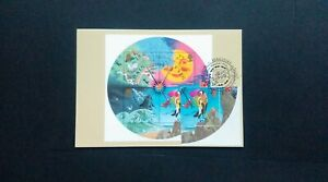 2001 WEATHER MINIATURE SHEET P.H.Q. CARD WITH A READING, BERKSHIRE F.D.I.