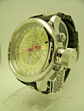 Invicta Russian Diver 5843 GMT 52mm Champagne Dial Stainless Canteen Crown RARE