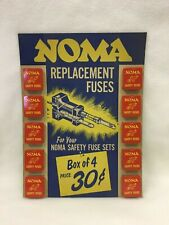 Vintage Antique Advertising NOMA Safety Fuse Sets Store Display Auto Glass Fuse