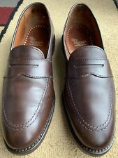 Allen Edmonds 'Westchester' Brown Leather Full Strap Penny Loafers Men's Size 8E